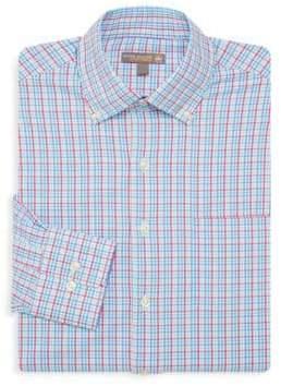 Peter Millar Smedes Performance Check Print Dress Shirt