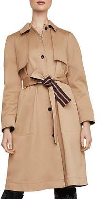 BCBGMAXAZRIA Belted Single-Breasted Trench Coat