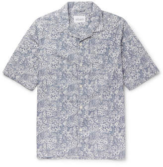 Albam Camp-Collar Floral-Print Cotton Shirt