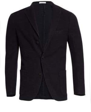 Boglioli Men's Plush Wool Jacket - Navy - Size 56 (46)