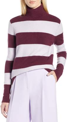 Halogen x Atlantic-Pacific Stripe Turtleneck Sweater
