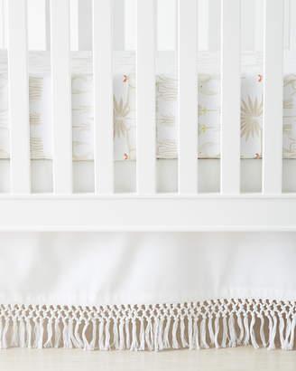 Serena & Lily Macrame Crib Skirt