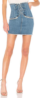 Bardot x REVOLVE Corset Denim Skirt.