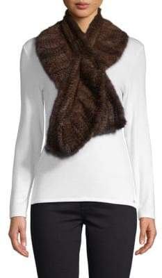 La Fiorentina Mink Fur Knitted Scarf
