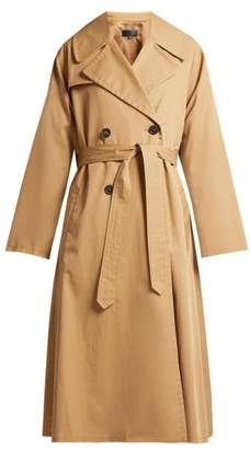Nili Lotan Topher Belted Cotton Gabardine Trench Coat - Womens - Tan