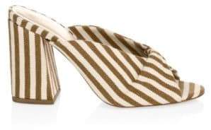 Loeffler Randall Women's Laurel Striped Mules - Amber - Size 5.5