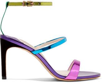 Sophia Webster Rosalind Metallic Leather Sandals - Purple