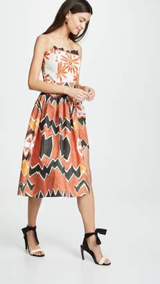 Tata-Naka Tata Naka Strapless Mini Dress with Wrap