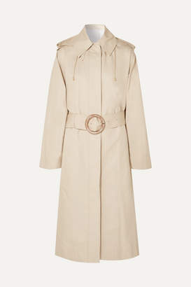 Joseph Carbon Hooded Cotton-garbardine Trench Coat - Beige