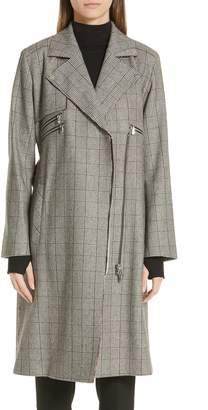 HUGO Medicas Plaid Trench Coat