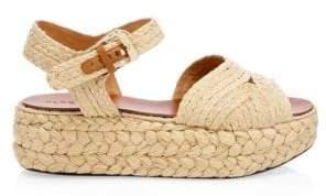 Clergerie Women's Aude Raffia Platform Sandals - Natural - Size 37 (6.5)