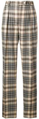 Alberta Ferretti high waist checked trousers