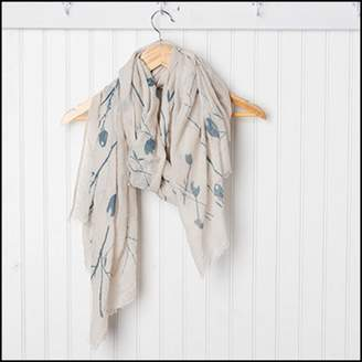 Tickled Pink Branches and Flowers Scarf, 30 x 70, 35% Cotton; 65% Polyester, Multiple Colors