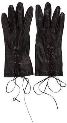 Prada Silk-Lined Lambskin Gloves