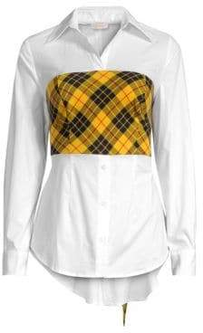 Petersyn Women's Monroe Plaid Overlay Shirt - Mystic Mix - Size Small