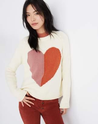 Madewell Heart Keaton Pullover Sweater