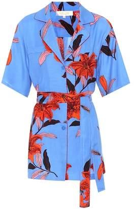 Diane von Furstenberg Floral-printed twill top