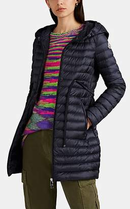 Moncler Women's Down-Quilted Hooded Puffer Coat - Navy