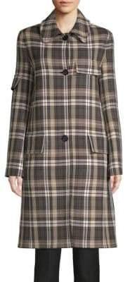 Helmut Lang Classic Plaid Trench Coat