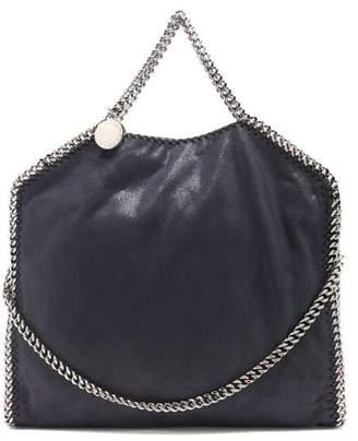 Stella McCartney Falabella Faux Suede Shoulder Bag - Womens - Navy