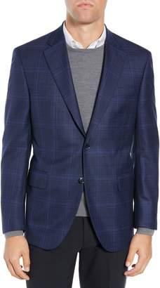 Peter Millar Classic Fit Navy Plaid Sport Coat