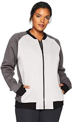 Core 10 Women's Motion Tech Fleece Fitted Bomber Full-Zip Jacket