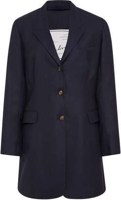 Giuliva Heritage Collection Karen Belted Wool-Crepe Blazer