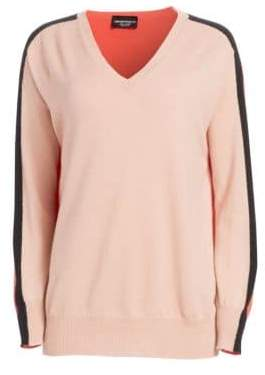 Emporio Armani Women's Cashmere Dual Color Sweater - Solid Light - Size 44 (8)