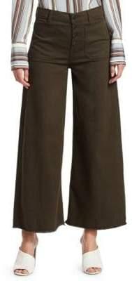 Elizabeth and James Women's Carmine Button-Up Denim Culottes - Combat - Size 24 (0)
