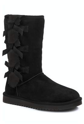 Koolaburra BY UGG Victoria Tall Genuine Dyed Shearling Trim & Faux Fur Boot