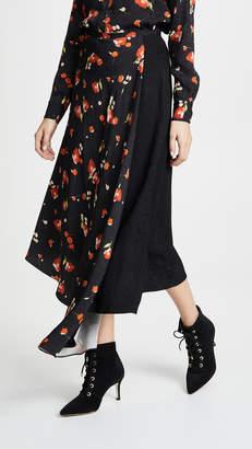 Vilshenko Christina Floral Asymmetric Midi Skirt