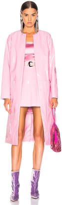 Staud Liam Trench Coat in Rose Quartz   FWRD