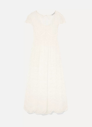 Paco Rabanne Lace Maxi Dress - White