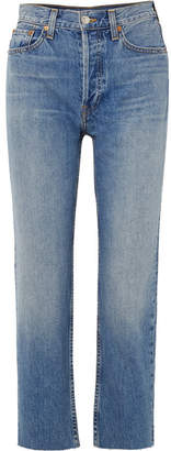 RE/DONE Originals High-rise Stove Pipe Straight-leg Jeans - Mid denim