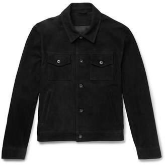 Mr P. Slim-Fit Suede Trucker Jacket