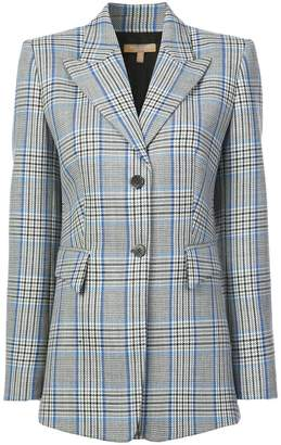 Michael Kors checked single-breasted blazer