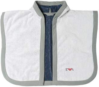 Emporio Armani Cotton Sponge Bath Robe And Manopola