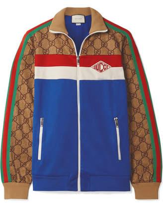 Gucci Printed Tech-jersey Track Jacket - Blue