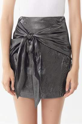 Capulet Mila Metallic Tie-Front Mini Skirt