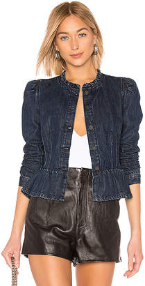 Rebecca Taylor Denim Peplum Jacket.