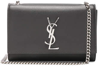 Saint Laurent Small Monogramme Kate Chain Bag in Storm | FWRD