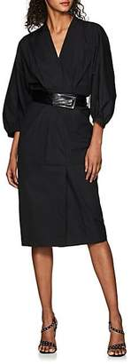 Narciso Rodriguez Women's Cotton Belted Dress - Black