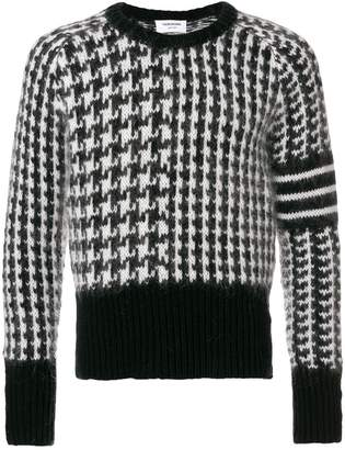 Thom Browne Wool Fun Mix Crewneck Pullover