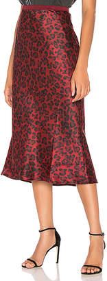 Anine Bing Bar Silk Midi Skirt