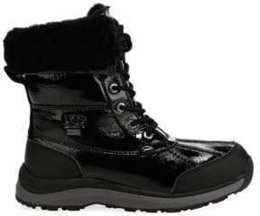 UGG Women's UGGpure Patent Adirondack Boots - White - Size 5