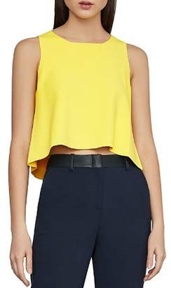 BCBGMAXAZRIA Slit-Back Crop Top