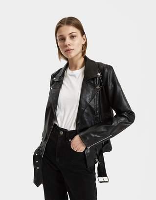 Stelen Kya Faux Leather Moto Jacket