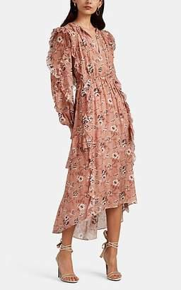 Ulla Johnson Women's Ellette Floral Silk Dress - Pink