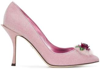 Dolce & Gabbana Lori rose applique pumps