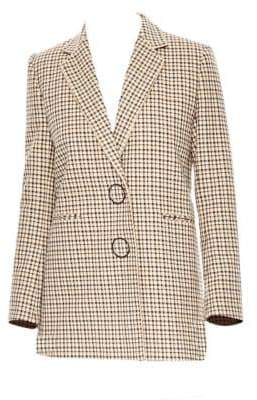 Sandro Women's Plaid Blazer - Size 36 (4)